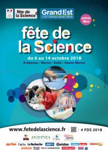 affiche Fête de la Science 2018 Champagne Ardenne