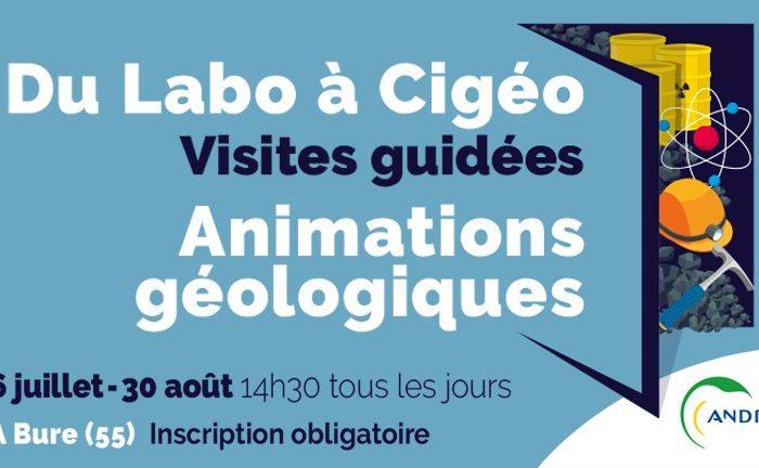 Du labo à Cigéo : animations géologiques