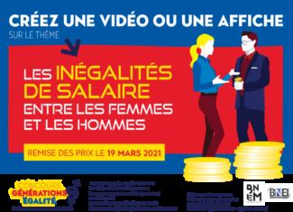 Concours génération égalité 2020 : les inégalités de salaires selon le genre